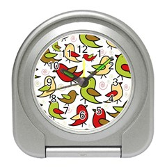 Decorative birds pattern Travel Alarm Clocks