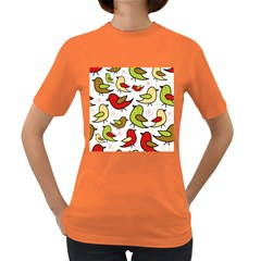 Decorative birds pattern Women s Dark T-Shirt