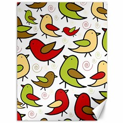 Decorative birds pattern Canvas 36  x 48