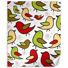 Decorative birds pattern Canvas 11  x 14