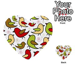 Decorative birds pattern Multi-purpose Cards (Heart)