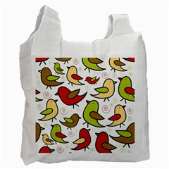 Decorative birds pattern Recycle Bag (One Side)