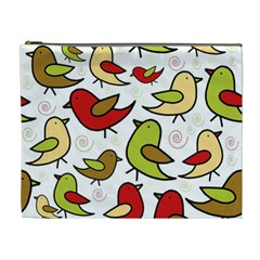 Decorative birds pattern Cosmetic Bag (XL)