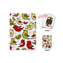 Decorative birds pattern Playing Cards (Mini)