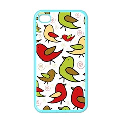 Decorative birds pattern Apple iPhone 4 Case (Color)