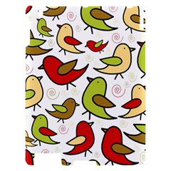 Decorative birds pattern Apple iPad 2 Hardshell Case