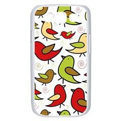 Decorative birds pattern Samsung Galaxy S III Case (White)