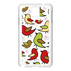 Decorative birds pattern Samsung Galaxy Note 3 N9005 Case (White)