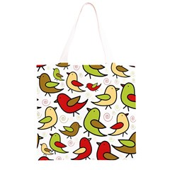 Decorative birds pattern Grocery Light Tote Bag