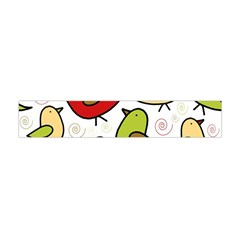 Decorative Birds Pattern Flano Scarf (mini)