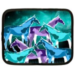 Horses under a galaxy Netbook Sleeve (Large) Front