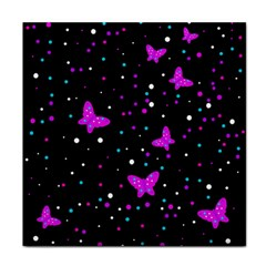 Pink butterflies  Tile Coasters