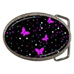 Pink butterflies  Belt Buckles