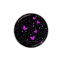 Pink butterflies  Hat Clip Ball Marker (4 pack)