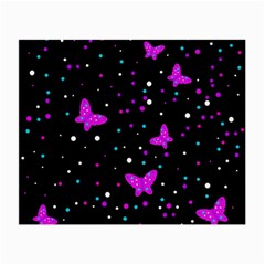 Pink butterflies  Small Glasses Cloth
