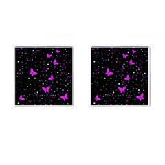 Pink butterflies  Cufflinks (Square)
