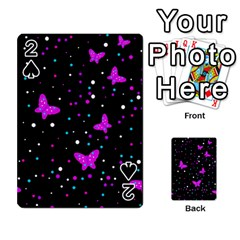 Pink butterflies  Playing Cards 54 Designs