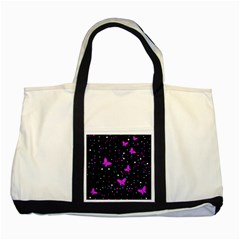 Pink butterflies  Two Tone Tote Bag
