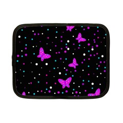 Pink butterflies  Netbook Case (Small)