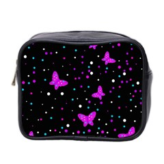Pink butterflies  Mini Toiletries Bag 2-Side