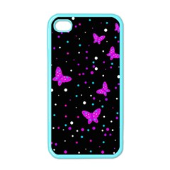 Pink butterflies  Apple iPhone 4 Case (Color)