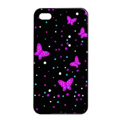 Pink butterflies  Apple iPhone 4/4s Seamless Case (Black)