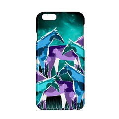 Horses Under A Galaxy Apple Iphone 6/6s Hardshell Case