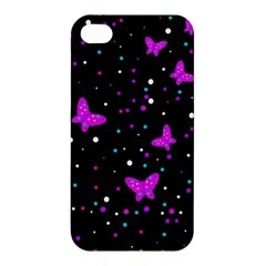 Pink butterflies  Apple iPhone 4/4S Hardshell Case