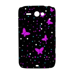 Pink butterflies  HTC ChaCha / HTC Status Hardshell Case
