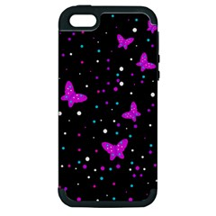 Pink butterflies  Apple iPhone 5 Hardshell Case (PC+Silicone)