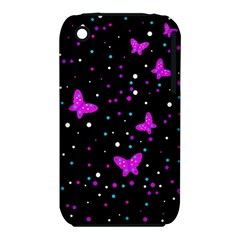Pink butterflies  Apple iPhone 3G/3GS Hardshell Case (PC+Silicone)