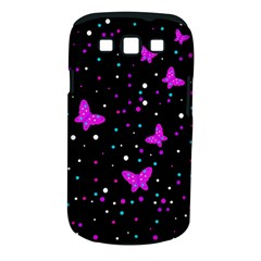 Pink butterflies  Samsung Galaxy S III Classic Hardshell Case (PC+Silicone)