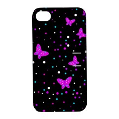 Pink butterflies  Apple iPhone 4/4S Hardshell Case with Stand
