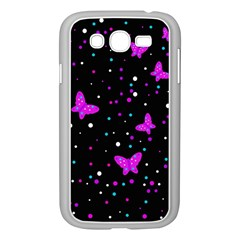 Pink butterflies  Samsung Galaxy Grand DUOS I9082 Case (White)