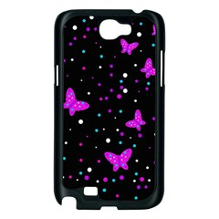 Pink butterflies  Samsung Galaxy Note 2 Case (Black)