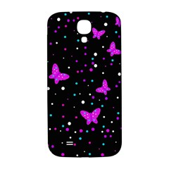 Pink butterflies  Samsung Galaxy S4 I9500/I9505  Hardshell Back Case
