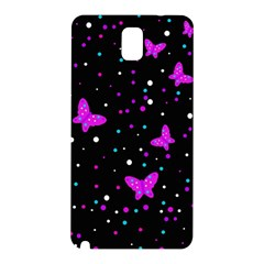 Pink butterflies  Samsung Galaxy Note 3 N9005 Hardshell Back Case