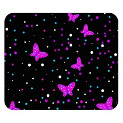 Pink butterflies  Double Sided Flano Blanket (Small)
