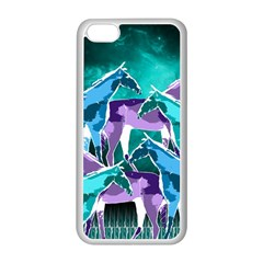 Horses Under A Galaxy Apple Iphone 5c Seamless Case (white)