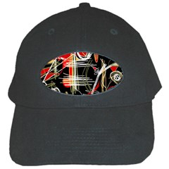 Artistic abstract pattern Black Cap