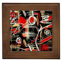 Artistic abstract pattern Framed Tiles