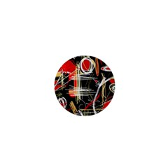 Artistic abstract pattern 1  Mini Buttons