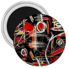 Artistic abstract pattern 3  Magnets