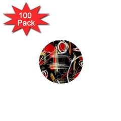 Artistic abstract pattern 1  Mini Buttons (100 pack)