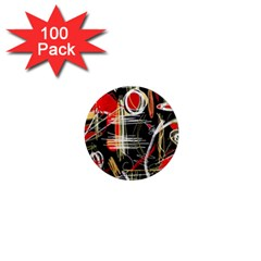 Artistic abstract pattern 1  Mini Magnets (100 pack)