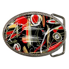 Artistic abstract pattern Belt Buckles