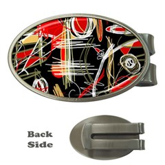 Artistic abstract pattern Money Clips (Oval)