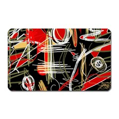 Artistic abstract pattern Magnet (Rectangular)