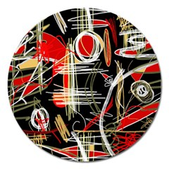Artistic abstract pattern Magnet 5  (Round)
