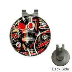 Artistic abstract pattern Hat Clips with Golf Markers